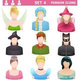 Vektor Person Icons Set 4 Arkivfoton