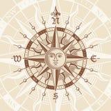 Vektor-Perspektiven-Kompass Rose Lizenzfreie Stockfotos