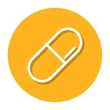 Vektor-Pille innerhalb einer Kreis-Linie Ikone Stock Abbildung