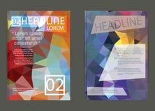 Vektor-Plakat-Schablonen-abstrakter Hintergrund Stockbilder