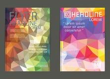 Vektor-Plakat-Schablonen-abstrakter Hintergrund Lizenzfreies Stockfoto