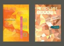 Vektor-Plakat-Schablonen-abstrakter Hintergrund Lizenzfreie Stockfotografie
