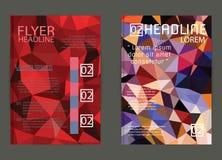 Vektor-Plakat-Schablonen-abstrakter Hintergrund Stockbild