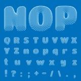 Vektor-Plan-Alphabet, Guss. Teil 2 Lizenzfreie Stockbilder
