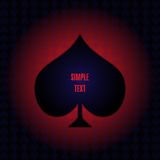 Vektor-Poker-Element Lizenzfreies Stockbild