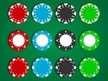 Vektor-Pokerchips Stockfotografie