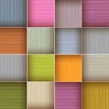 Vektor-quadratischer bunter Hintergrund Stockfotos
