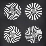 Vektor Ray Spiral Set Lizenzfreie Stockfotos