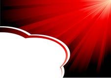 Vektor rays flayer Lizenzfreie Stockfotografie