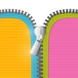 Vektor-Reißverschluss-Illustration Stockbild