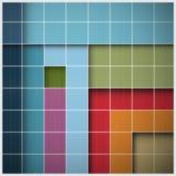 Vektor-Retro- quadratischer Hintergrund Lizenzfreie Stockbilder