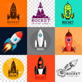 Vektor Rocket Collection Royaltyfria Foton