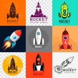 Vektor Rocket Collection Lizenzfreie Stockfotos