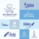 Vektor Rocket Logo Set Arkivbild