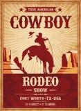 Vektor-Rodeo laden Schablone ein lizenzfreie abbildung