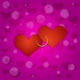 Vektor-rosa Heilig-Valentinsgrußhintergrund lizenzfreie abbildung