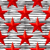 Vektor-Rot spielt nahtloses Muster für den 23. Februar die Hauptrolle Der Tag des Verteidigers des Vaterlands Vektor Abbildung