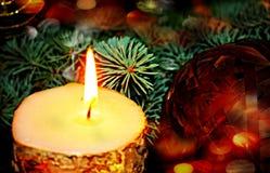 Vektor-roter Weihnachtstext auf grünem Hintergrund Lizenzfreie Stockfotografie
