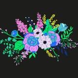 Vektor-rustikaler Blumen-Blumenstrauß Stockbild