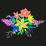 Vektor-rustikaler Blumen-Blumenstrauß Stockfotos