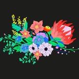 Vektor-rustikaler Blumen-Blumenstrauß Stockbilder