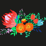 Vektor-rustikaler Blumen-Blumenstrauß Stockfoto
