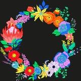 Vektor-rustikaler Blumen-Kranz Lizenzfreies Stockbild