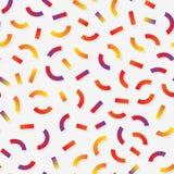 Vektor sömlösa flerfärgade Memphis Style Lines Jumble Pattern Arkivfoton