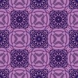 Vektor sömlösa purpurfärgade blom- Mandala Pattern Royaltyfri Bild
