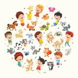 Vektor-Sammlung der Kinder-und Tier-Illustration vektor abbildung