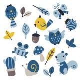 Vektor-Sammlungsdesign der wild lebenden Tiere lizenzfreie abbildung