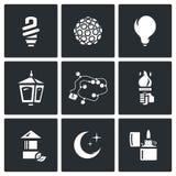Vektor-Satz Beleuchtungs-Ikonen Stockfotografie