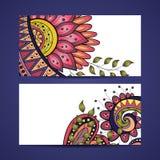 Vektor-Satz Blumenfahnen Lizenzfreie Stockfotos