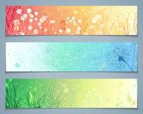 Vektor-Satz Blumenfahnen Lizenzfreies Stockfoto