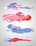 Vektor-Satz strukturierte abstrakte gemischte Medien des Schmutzes Stockfotografie