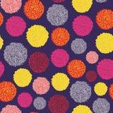 Vektor-Satz von buntem Pom Poms Decorative Elements Bobble, pom pom in der Pastellfarbe, boho Art lizenzfreie abbildung