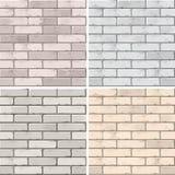 Vektor-Satz Ziegelstein-nahtlose Beschaffenheits-Muster-Wand-Hintergründe lizenzfreie abbildung