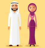 Vektor - Saudi-Arabien traditionelles Paar Lizenzfreies Stockbild