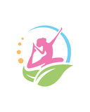 Vektor-Schönheitszusammenfassung Frauenyoga Wellness 2 lizenzfreie abbildung