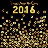 Vektor-Schablone des Affe-neuen Jahr-2016 Stockbilder