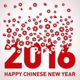 Vektor-Schablone des Affe-neuen Jahr-2016 Lizenzfreie Stockfotos