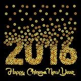 Vektor-Schablone des Affe-neuen Jahr-2016 Lizenzfreies Stockfoto