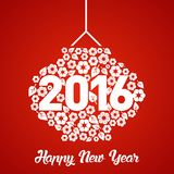Vektor-Schablone des Affe-neuen Jahr-2016 Stockfoto