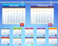 Vektor-Schablone des Kalenderjahr-2014 Stockfotos