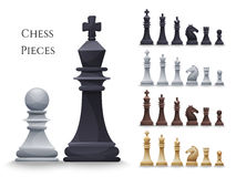 Vektor-Schach stellt großen Satz dar Stockbild