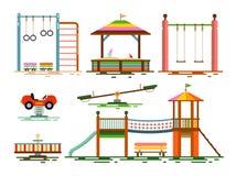 Vektor scherzt Spielplatz-flaches Design Stockbilder