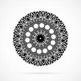 Vektor-schwarze Geometrie-Mandala über Weiß Lizenzfreies Stockbild
