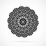 Vektor-schwarze Geometrie-Mandala über Weiß Lizenzfreie Stockfotografie