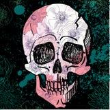 Vektor-schwarze Tätowierung Sugar Skull Illustration Lizenzfreies Stockfoto