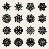 Vektor Schwarzweiss--Mandala Lace Ornaments Collection Lizenzfreie Stockfotos